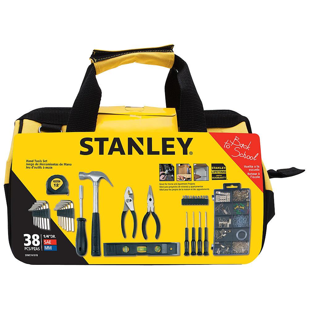 Stanley 38-pc. Homeowner's Tool Set w/ Bag - $14.99 + P/U @ Kmart