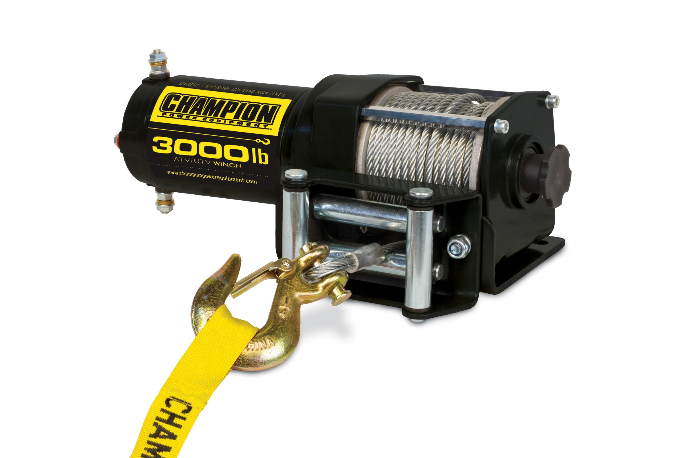 Champion Power Equipment 3000lb ATV/UTV Winch Kit $59.99 + Free Shipping