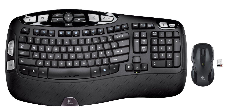 Logitech MK550 Wireless Wave Combo (Keyboard & Laser Mouse)  $35 after $25 Rebate + Free S&H