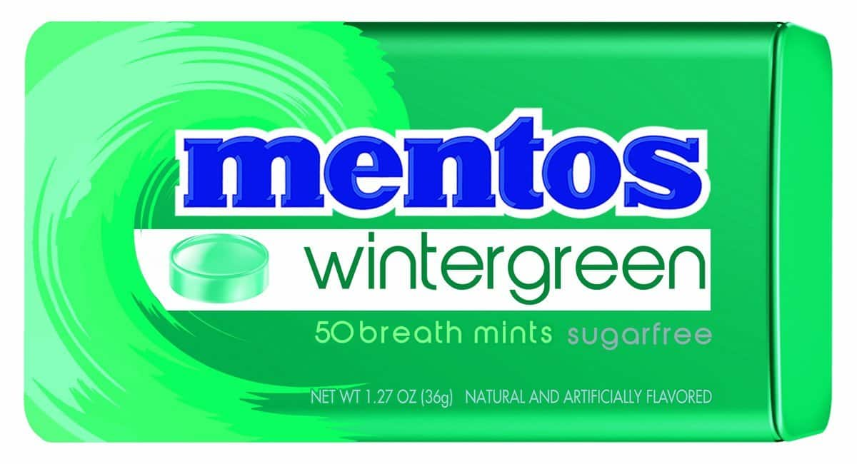 Mentos Sugar-Free Breath Mints, Wintergreen, 1.27 Ounce (Pack of 12 - 600 Mints total) - $9.89 AC w/S&S