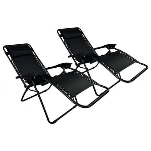 2-Pack Zero Gravity Lounge Patio Chairs $50 + free shipping