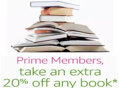 Prime Members: Additional Savings on One Print Book  20% Off (Up to $10 Savings)