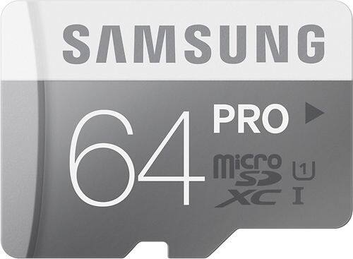 64GB Samsung PRO Class 10 UHS-1 microSD Memory Card  $24 + Free Shipping