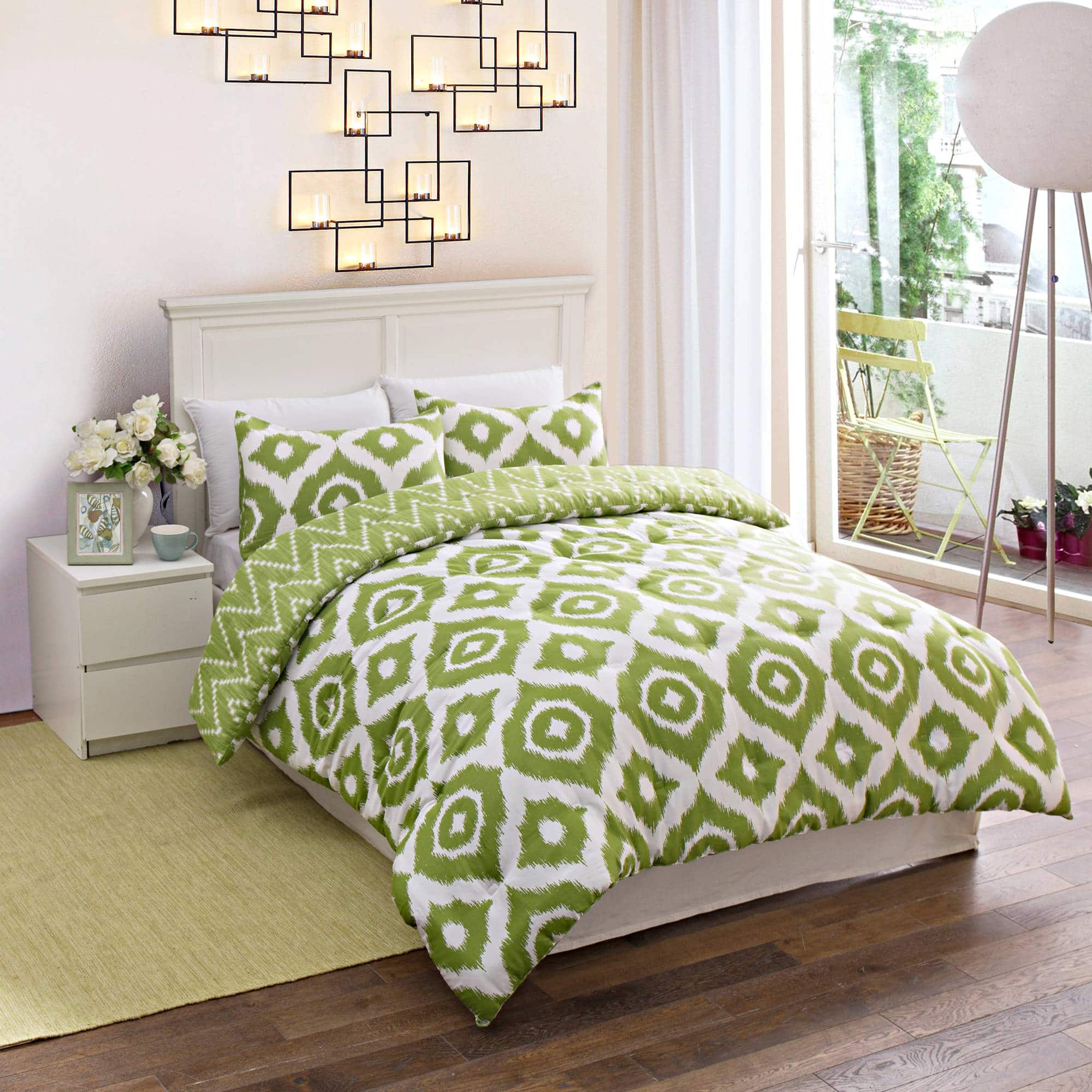 3-Piece Geo Medallion Bedding Comforter Set (Full)  $17 + Free Shipping