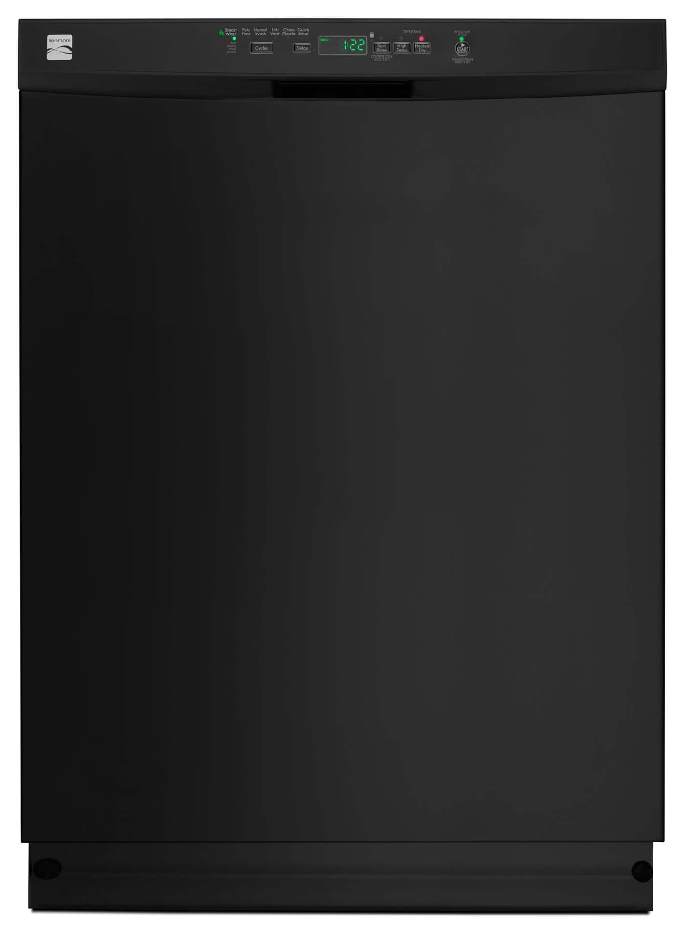 "Kenmore 24"" Built-In Dishwasher w/ PowerWave Spray Arm (Black) $347.49 + ~$52 in SYW Points + Free Store Pickup ~ Sears *YMMV*"