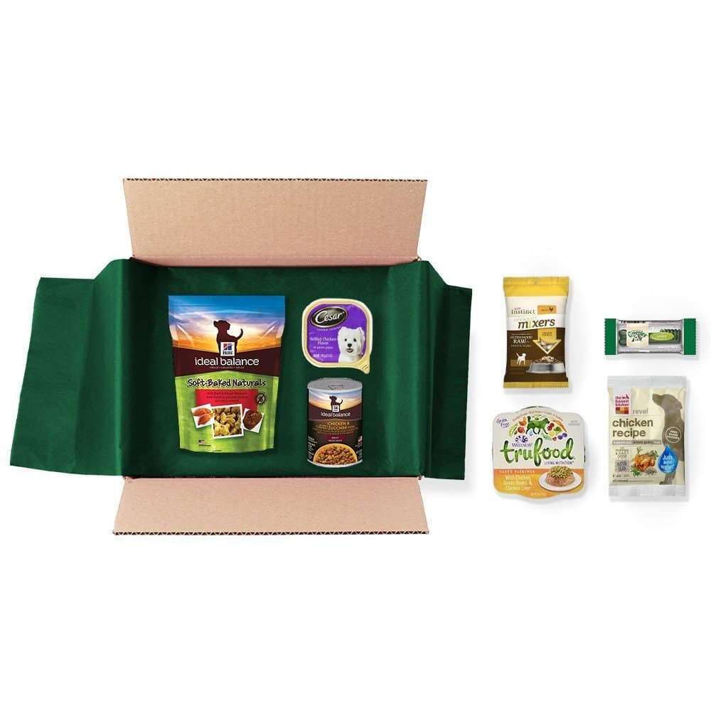Prime Members: Dog Food and Treats Sample Box (7 or More Samples) + $9.99 Credit Towards Next Dog Food Purchase $9.99 + Free Shipping