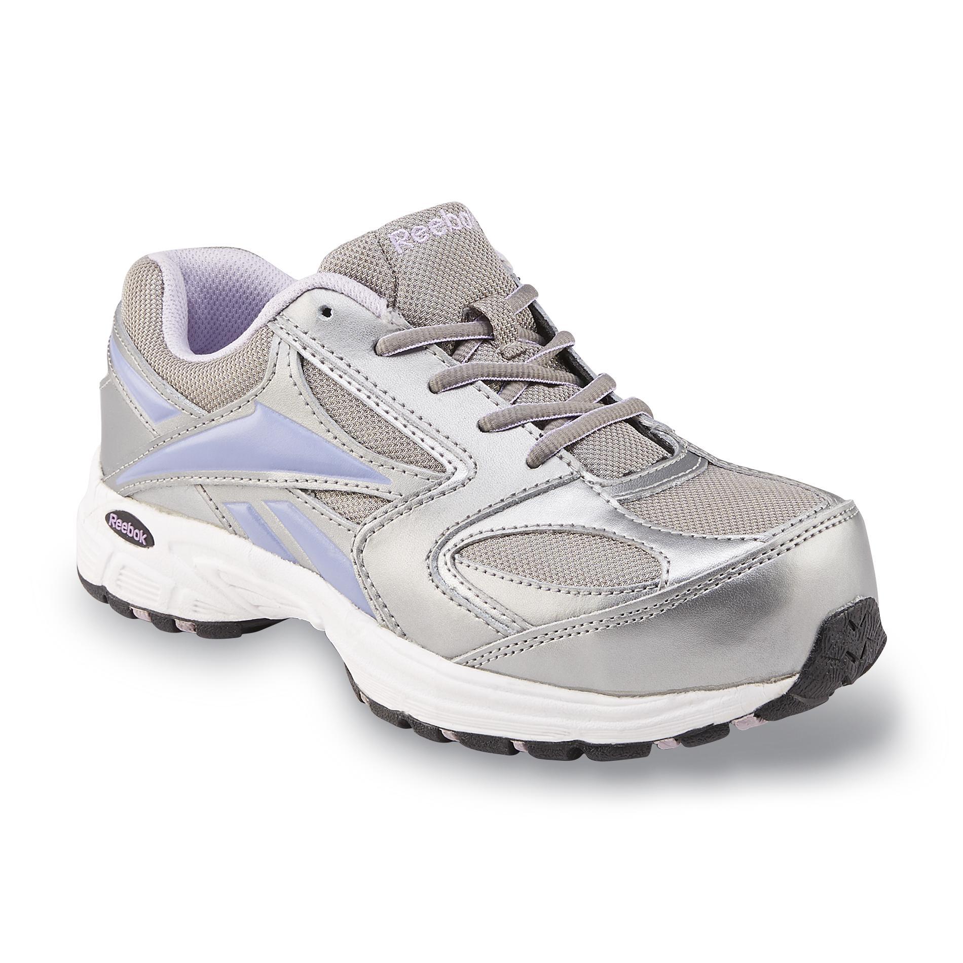 reebok work s composite toe work shoe grey purple