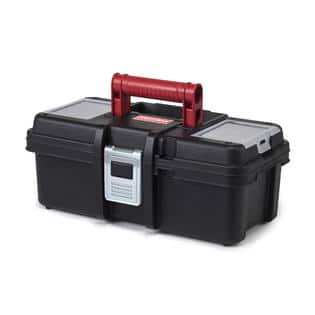 "Craftsman Tool Box w/ Tray (Black/Red): 19"" $9.39, 16"" $7.59, 13"" $4.39 + Free Store Pickup ~ Sears"