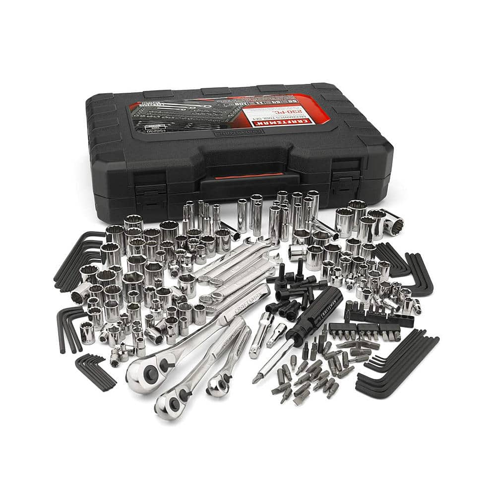 Craftsman 230 pc Mechanic Tool Set $75.19, 311 pc w/75 tooth ratchets $158.59