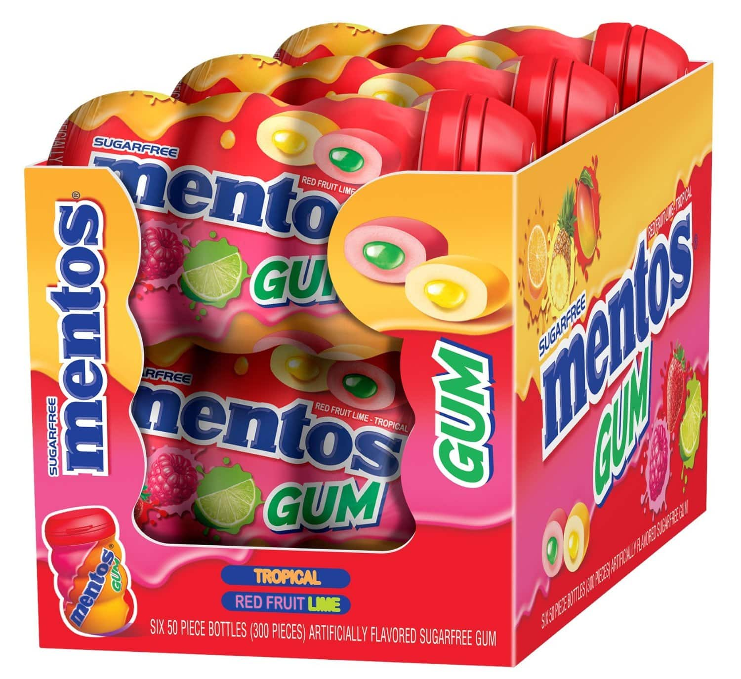 Prime Members: 6-Pack of 50-Count Mentos Gum Big Bottle Curvy  From $10.50 + Free Shipping