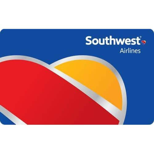 $100 Southwest Airlines Gift Card $92 (Email Delivery)