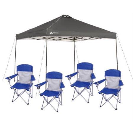 Ozark trail 10x10 Canopy + 4 Folding Mesh Chairs - $74 plus tax