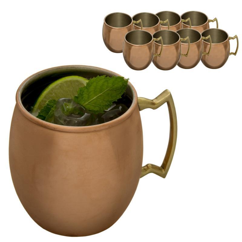 8-Pack of 16oz Old Dutch International Copper Moscow Mule Mug Set $24 + Free Shipping
