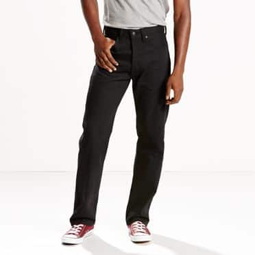 Levis Men's 501 Original Shrink-to-fit Jeans (black) $14.45, Men's 522 Slim Taper Jeans (gated grey) $15.45, Women's 714 Straight Jeans (rugged winds) $15 +free shipping on $100+