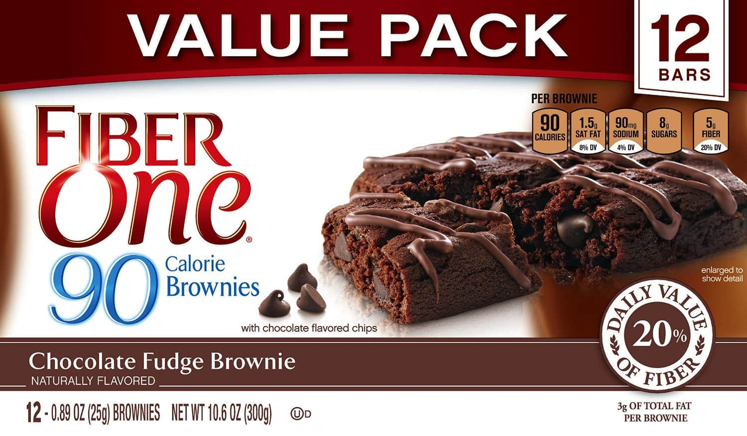 12-Count Fiber One Soft-Baked Bars (Chocolate Fudge Brownie)  $3.50 + Free Shipping