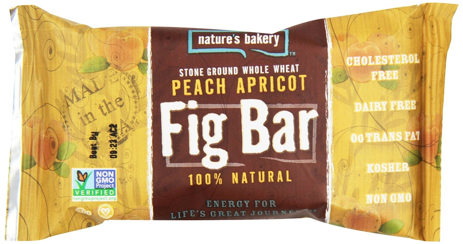 Nature's Bakery Whole Wheat Fig Bar, Peach Apricot, Vegan + Non-GMO, 12 Count Box - $4.50 or Less w/S&S