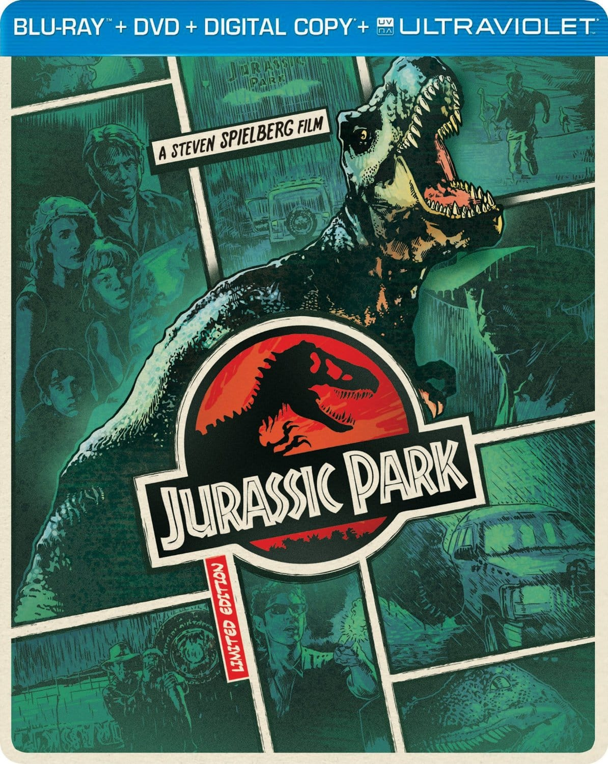 Jurassic Park Steelbook (Blu-ray/DVD/Digital Copy) $7.99 + Free Store Pickup @ Best Buy