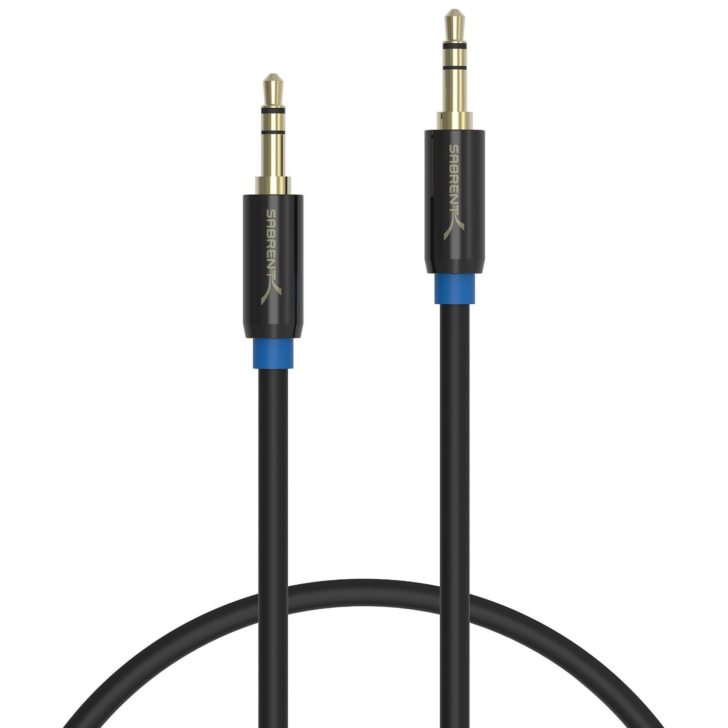 3ft Sabrent 3.5mm to 3.5mm Cable $2 @ Amazon