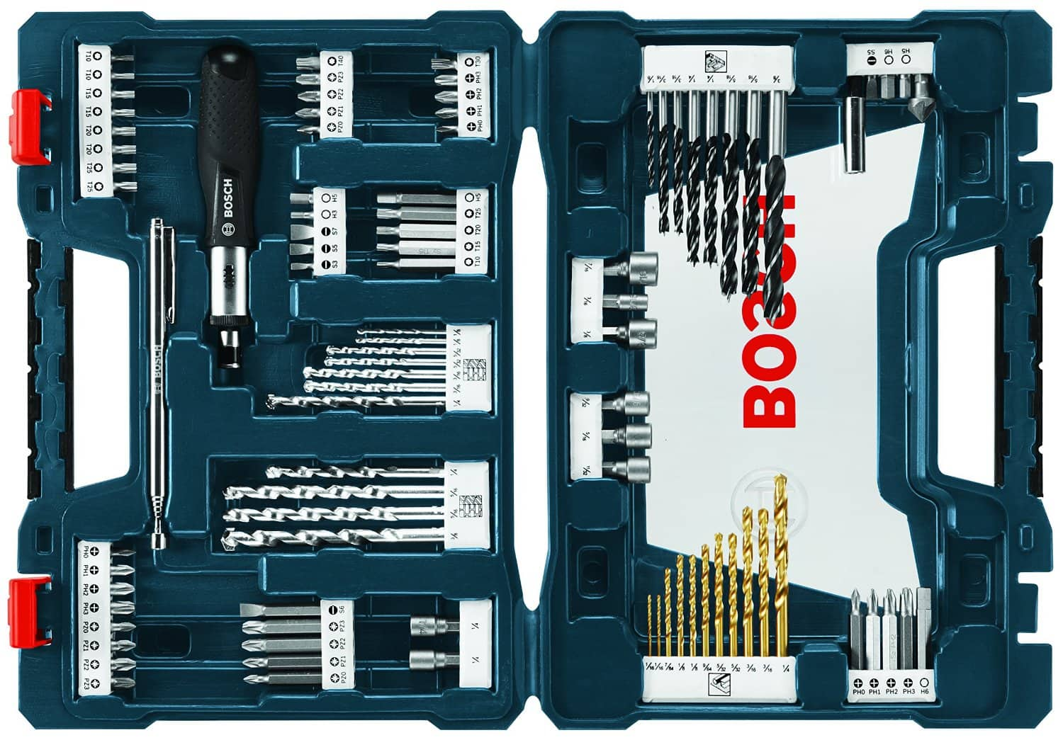91 piece bosch ms4091 drill and drive bit set. Black Bedroom Furniture Sets. Home Design Ideas