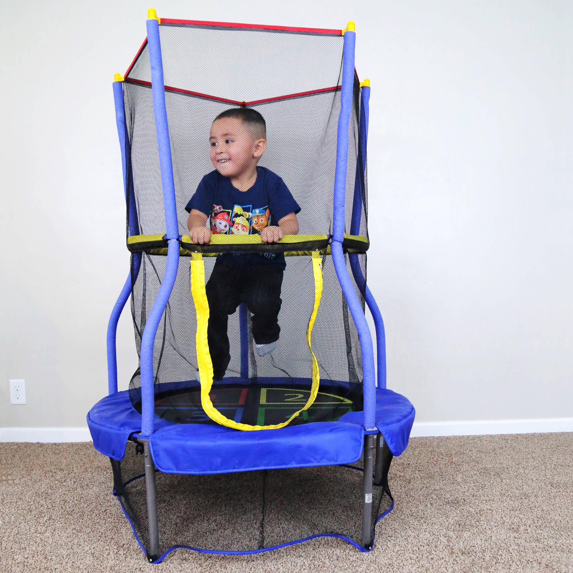 "Skywalker Bounce-N-Learn 40"" Trampoline with Enclosure $29 at Walmart"
