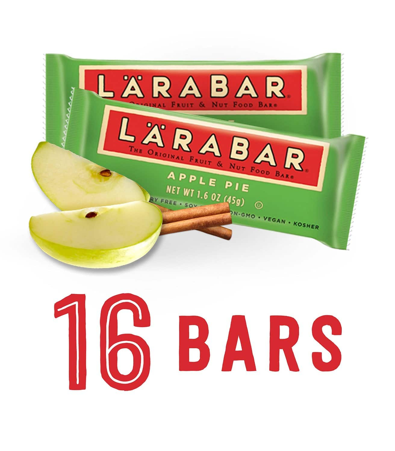 16-Count Larabar Snack Bars (various flavors)  From $11.20 + Free Shipping