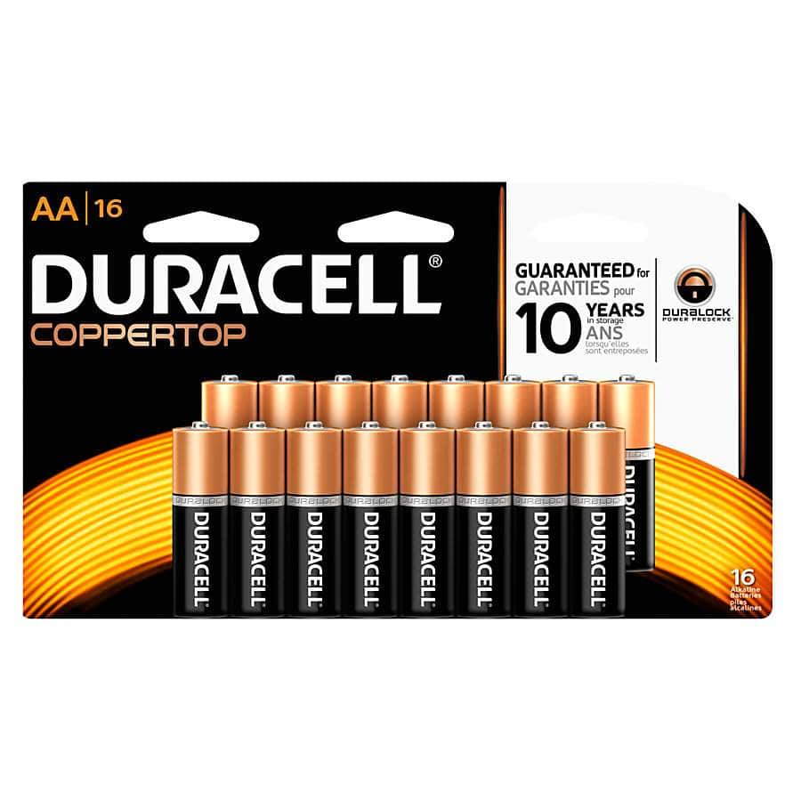 Office Depot OfficeMax Rewards: Duracell AA/AAA battery 16 packs, Pay $13.99 Get back $13.98 in rewards, limit 2 (08/28/2016 - 09/03/2016)