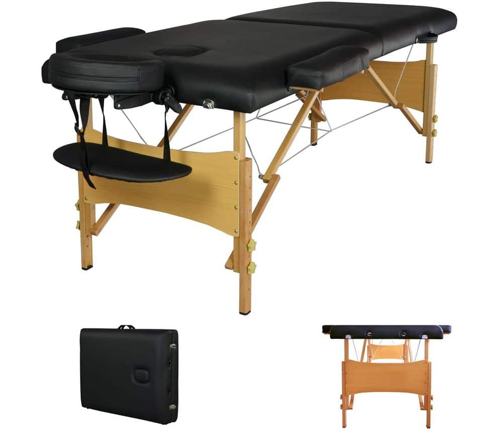 "2"" Pad 84"" Black Portable Massage Table w/Free Carry Case $59.99"