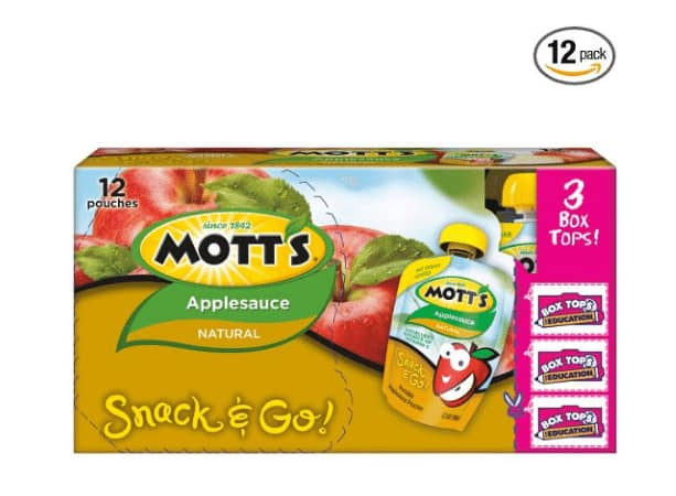 Mott's Snack & Go Natural Applesauce, 3.2 oz pouches (Pack of 12) as low as $4.09 w/s&s