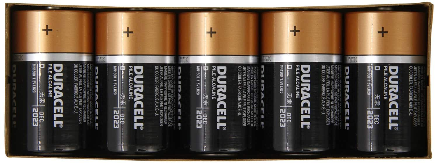 Duracell Coppertop D Batteries 10 Count For $10.71 @ Amazon