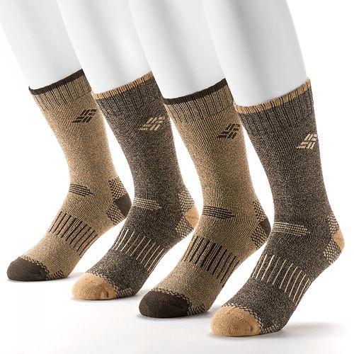 Kohls Cardholders: 4-Pack Men's Columbia Sportswear Moisture Control Crew Socks $2.40 + free shipping