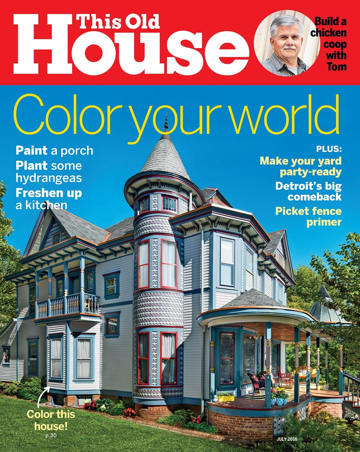 """This Old House"" magazine subscription for 5 usd/year"