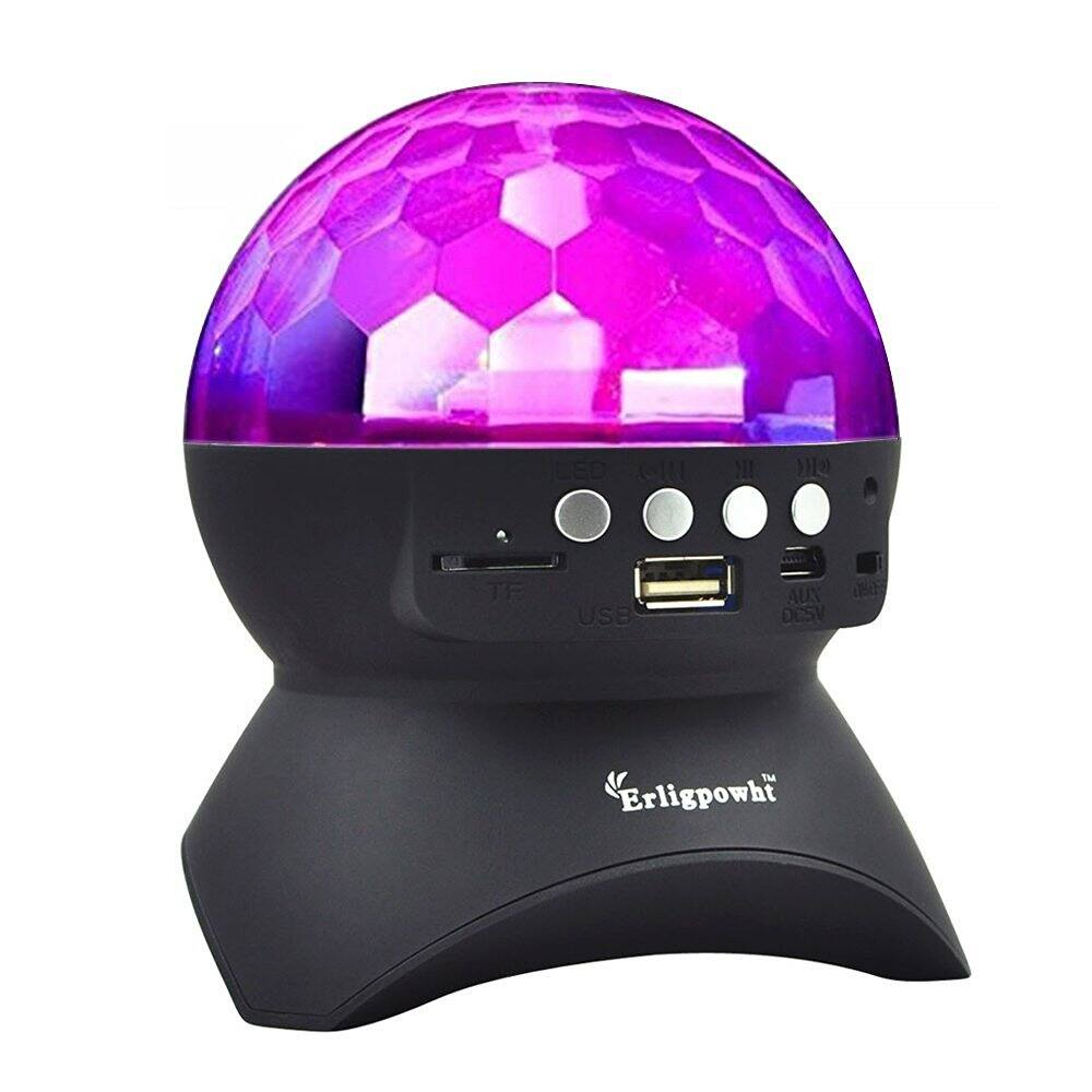 Erligpowht Rotating Disco Ball Light w/ Wireless Bluetooth Speaker  $7