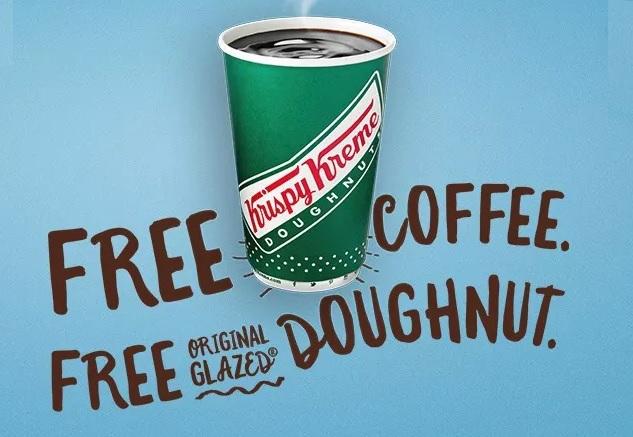 Krispy Kreme: 12oz. Coffee + Original Glazed Doughnut  Free (Valid 9/29 Only)