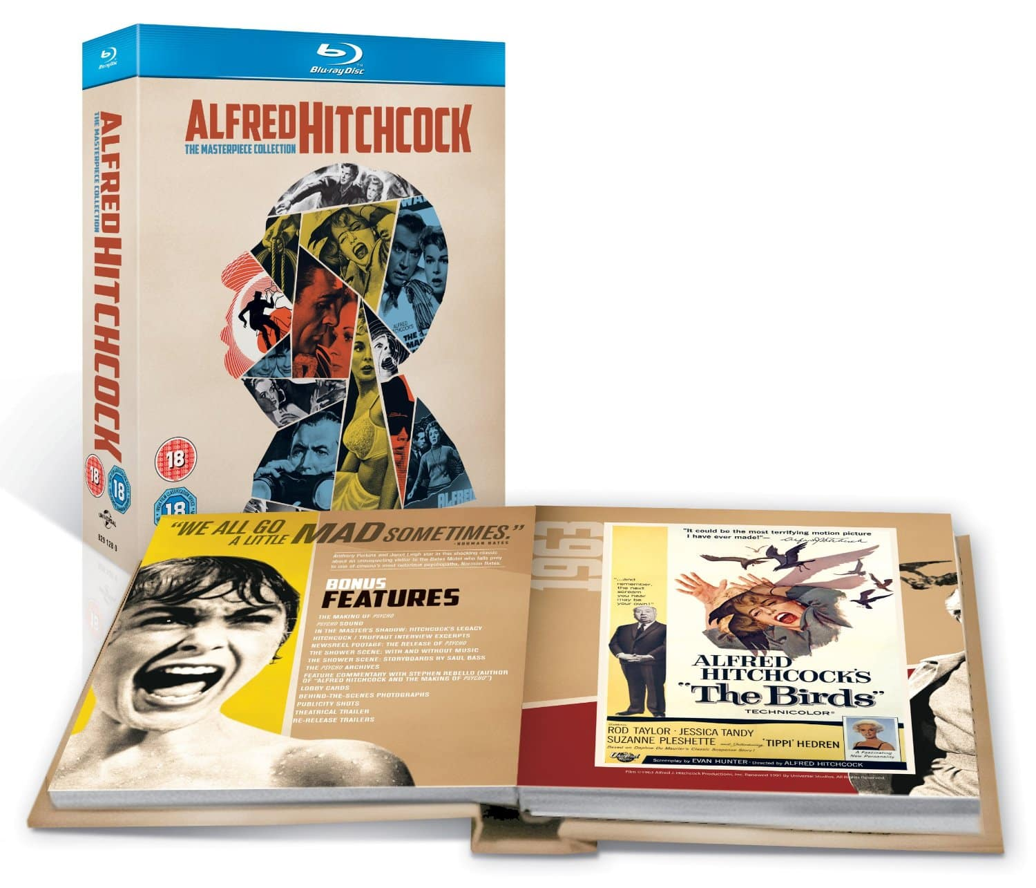 Alfred Hitchcock The Masterpiece Collection (Region Free Blu-ray)  $27
