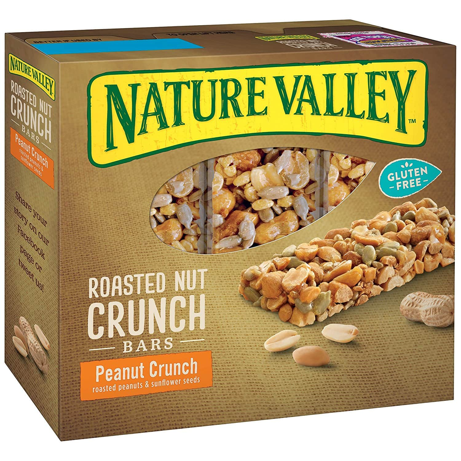 Nature Valley Roasted Nut Crunch, 6 bars, 7.44 Ounce, $1.90 Free Shipping, S&S