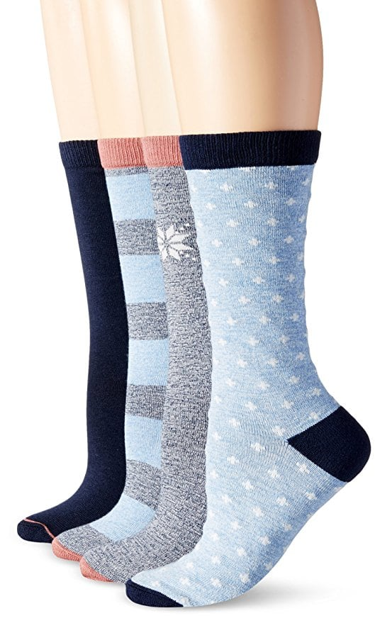 4-Pack Timberland Women's Assorted Crew Boot Sock  from $3.70 + Free S&H on $25+ (Add-on Item)