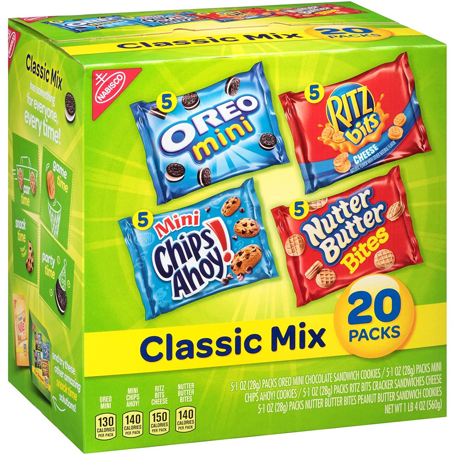 Amazon.com has Nabisco Classic Cookie and Cracker Mix (20-Count Box) S&S - $6.09 + Free Shipping!