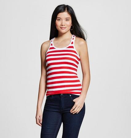 Merona Women's Striped Tank  $2.70 & More + Free Store Pickup