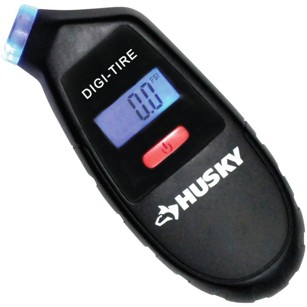 "Husky 4"" Digital Tire Gauge w/ Lighted Nozzle & Lifetime Warranty $4.97 + Free Store Pickup Homedepot.com"