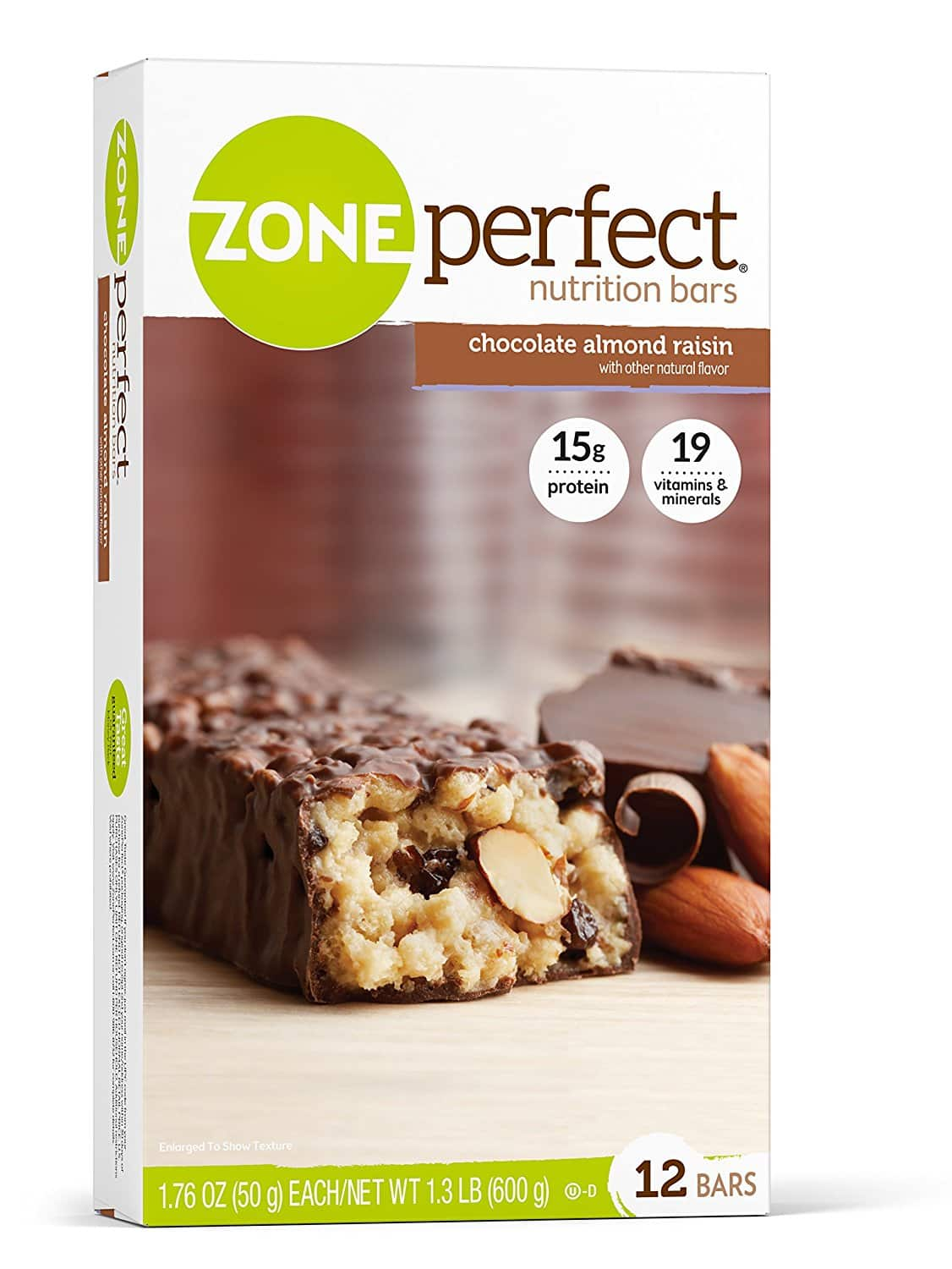 12 Pack ZonePerfect Nutrition Bars - Fudge Graham (Prime only) or Chocolate Almond Raisin - $7.18 AC & S&S ($6.15 AC & 5 S&S Orders) + Free Shipping