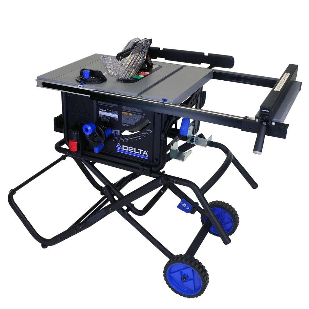Delta 10 15 amp portable table saw w folding stand for 99 table saw