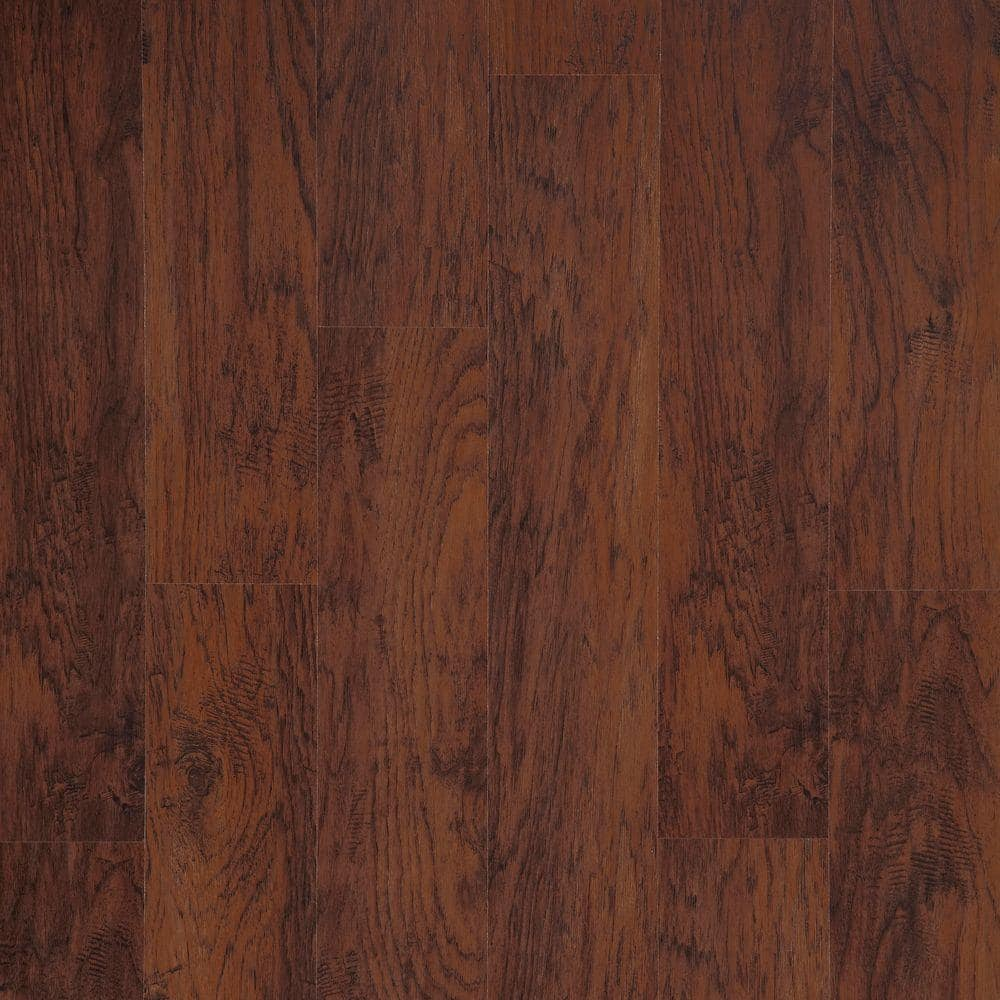 Trafficmaster Dark Brown Hickory 7mm Laminate Flooring