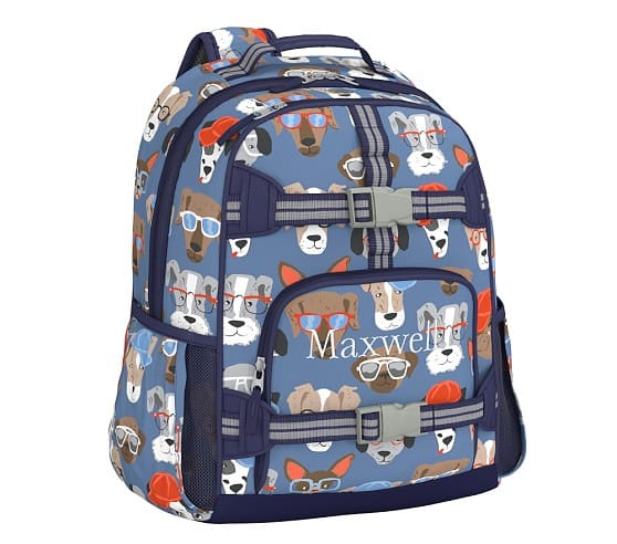 Pottery Barn Kids Mackenzie Cool Dogs Backpack Large
