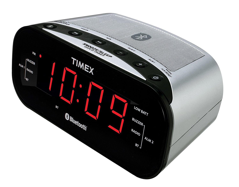 Timex Bluetooth Dual Alarm Radio Alarm Clock (Black) $17.49 + Free Shipping ~ Amazon