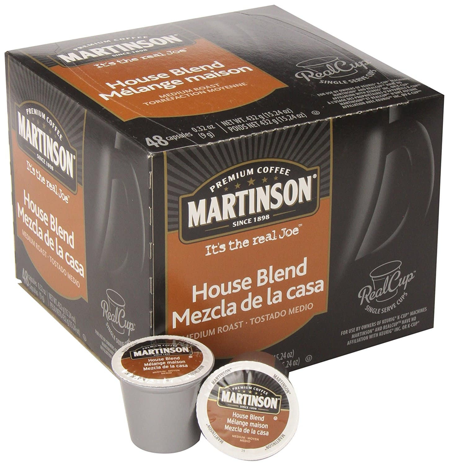 48-Pack Martinson Coffee Single Serve RealCup K-Cups (House Blend ...