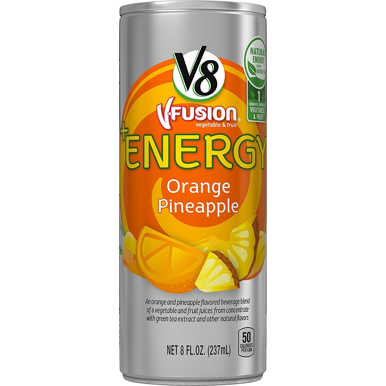 24-Pack of 8oz V8 +Energy Drinks (Orange Pineapple) - Slickdeals.net