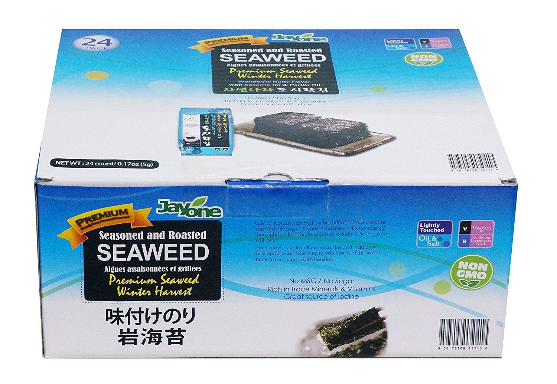 add on item 24 count jayone seaweed roasted lightly salted. Black Bedroom Furniture Sets. Home Design Ideas