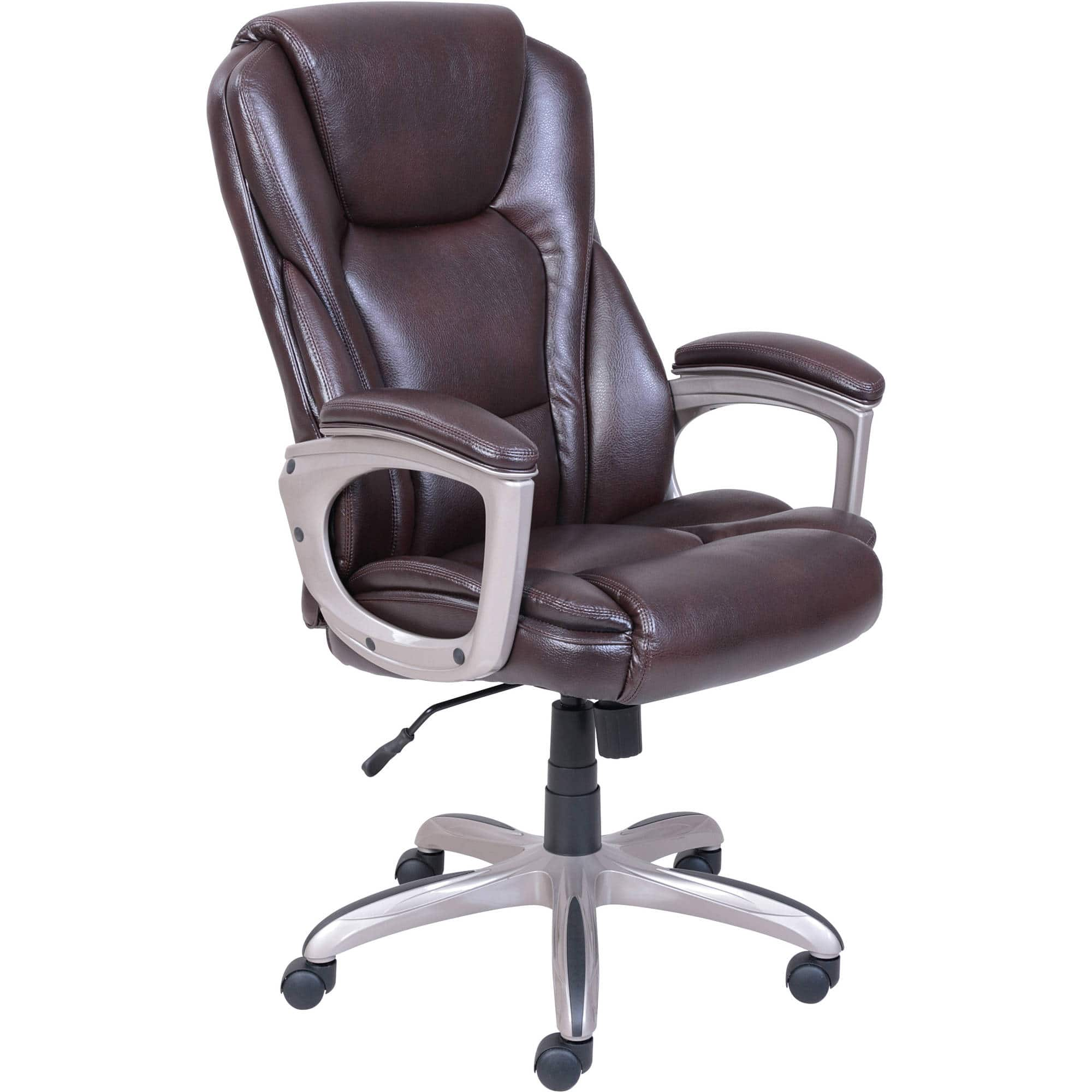 serta big tall commercial office chair w memory foam brown