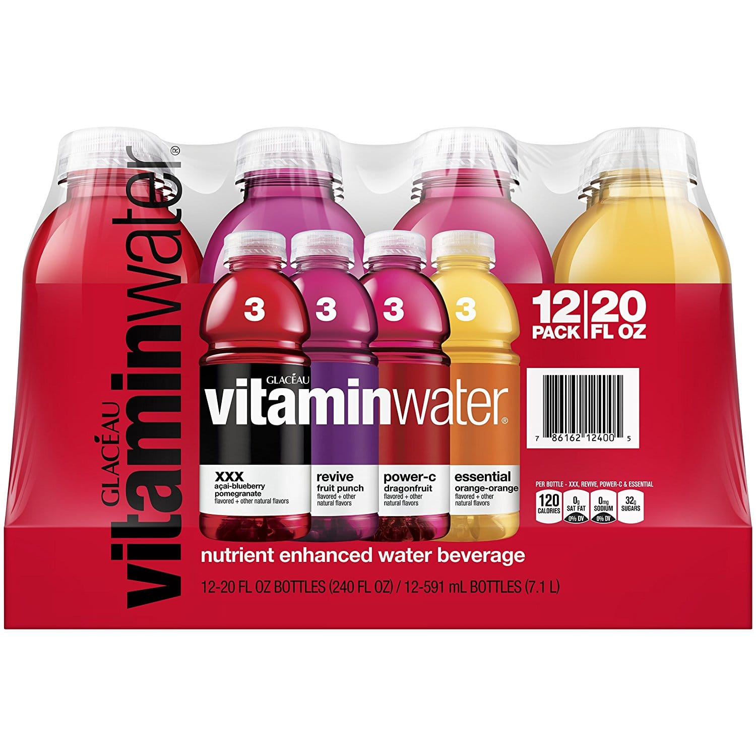 Prime Members: 12-Pack of 20oz Vitaminwater Variety Pack $7.14 or Less w/ S&S + Free Shipping ~ Amazon