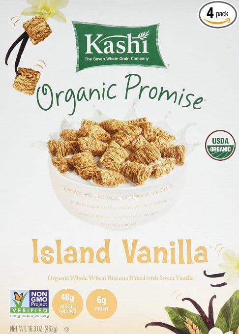 4-Pack of 16.3oz Kashi Organic Cereal (Island Vanilla) $7.95 or Less w/ S&S + Free Shipping ~ Amazon